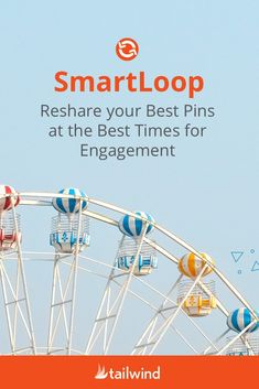 Save hours manual pinning, ditch the complicated spreadsheets and put your idle Pins back to work with Tailwind SmartLoop. Continually reshare your best Pins at the best times for engagement with minimal effort. Start safe smart looping with an Official Pinterest Partner Tool! #pinterestmarketing #marketingstrategy