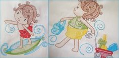 Summer Beach Kids - Embroidery Designs with or without Mylar - Great for Summer! Beach Kids, Summer Beach, Summer Design, Machine Embroidery, Embroidery Designs, Africa, Princess Zelda, Fun, Fictional Characters
