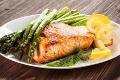 One Pan Lemon Pepper Roasted Salmon & Asparagus