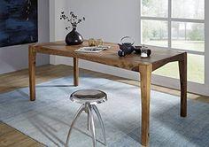 Sheesham massiv Holz Möbel lackiert Esstisch 180x85 braun Palisander massiv Möbel Massivholz Ancona #0103