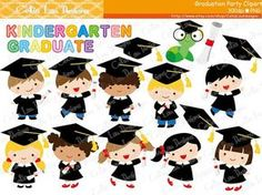 Graduation Party Clipart Graduate boys and by CeliaLauDesigns