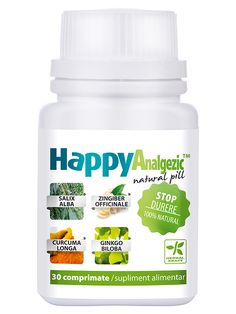 Stop durere HappyAnalgezic - Creste capacitatea de aparare a organismului si asigura sanatatea sistemului imunitar, este analgezic si antiinflamator.