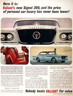 Vintage car ads from the early 60s (22 Photos)