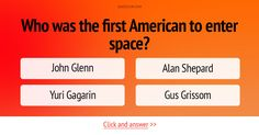 Who was the first American to enter space? #Trivia #Quiz #HistoryQuiz