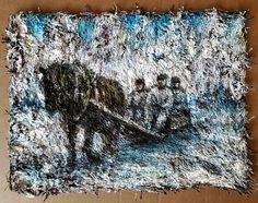 Huonolla tolalla 40x30 acrylic on carpet. #carpetpainting #painting
