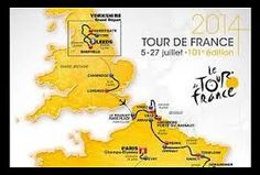 The Map of Le Tour de France