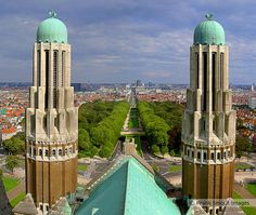 View over the east side of Brussels from the National Basilica of the Sacred Heart. Listed as Unesco, this Art Deco building is the 5th largest church in the world #belgium