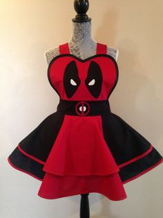 Deadpool Deadpool Costume Deadpool apron Cosplay by AriaApparel