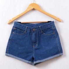 New Hot Women's Jeans Summer High Waist Stretch Denim Shorts Slim Jeans Feminino BrandSummer Spring Plus Size 26-32 C2296