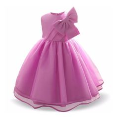 Bowknot Decorated Sleeveless Princess Dress Little Girl Dresses, Girls Dresses, Prom Dresses, Baby Dress, Pink Dress, Baby Girls, Toddler Girl, Party Wear Frocks, Girl Trends