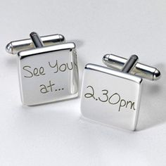 Personalised Wedding See you at... Cufflinks £19