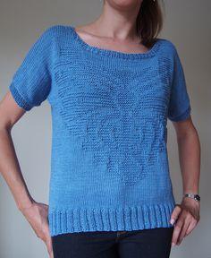 Byzantium Top pattern by Irina Anikeeva, knit by Dayana Knits in Rowan Cotton Glacé