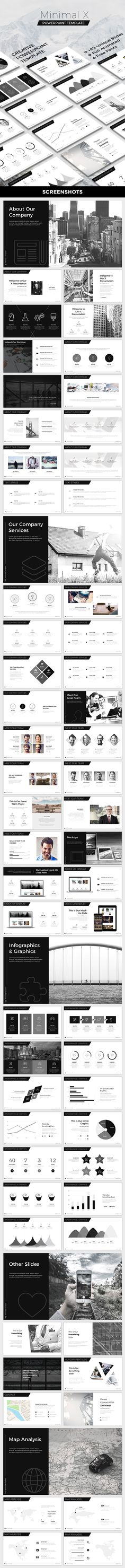 Minimal X Powerpoint Template - Creative #PowerPoint #Templates Download here: https://graphicriver.net/item/minimal-x-powerpoint-template/19598439?ref=alena994