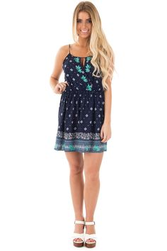 Lime Lush Boutique - Navy Halter Top Printed Dress with Embroidered Detail, $38.99 (https://www.limelush.com/navy-halter-top-printed-dress-with-embroidered-detail/)#fashion#spring#happy#photooftheday#followme#follow#cute#tagforlikes#beautiful#girl#like#selfie#picoftheday#summer#fun#smile#friends#like4like#pinterestfollowers