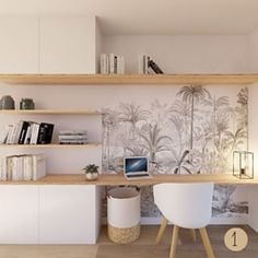 Home Room Design, Home Office Design, Home Office Decor, House Design, Home Decor, Small Room Design, Small Home Offices, Home Office Space, Modern Home Offices