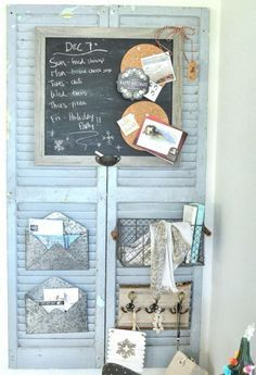 Broken shutters can have multiple purposes you can DIY! Easy Home Decor, Wood Shutters, Decor, Shutters, Rustic Diy, Home Goods, Diy Furniture, Shiplap Wall Diy, Home Decor