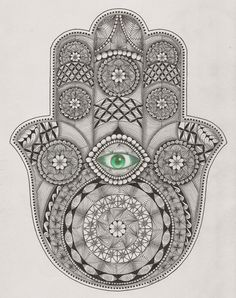 Hamsa hand  template van Ben Kwok (ornation creation)