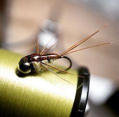 #heptagenia #mayfly #nymph #hendshooks #12 #trout #flytying #flyfishing…