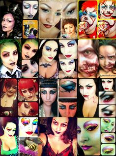 Recap of my personal journal for the month of :) I was dressing up for work, fun times! Hope this helps some people if they are stuck on a idea for today. Zombie Mask, Zombie Makeup, Fx Makeup, Makeup Pics, Halloween Clown, Halloween Make Up, Halloween Face Makeup, Halloween Ideas, Cute Clown