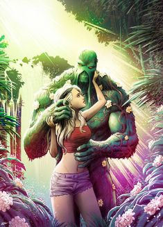 Swamp Thing and Abby Holand by JoseRealArt on DeviantArt