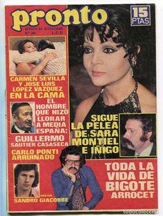 SARA MONTIEL, CARMEN SEVILLA, CAMILO SESTO, J.M. SERRAT y ANA REVISTA PRONTO. 1977. - Foto 1