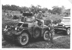 Members of 5 Commando and a Daimler Ferret in the Congo during the Congo Crisis