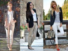 06_Look calça clara_look para trabalhar_look calça clara e blazer preto