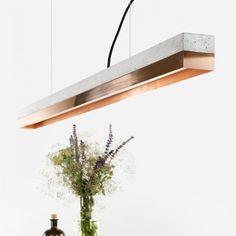 Copper & Concrete Pendant Light [C1]