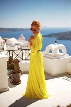 Yellow Dress for Summer Fashion.