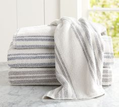 Evan Stripe Bath Towels