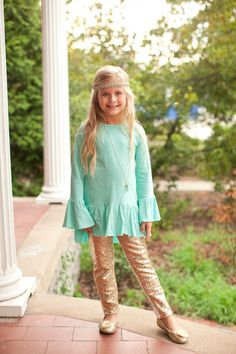 Pre Order Girl's ST Winter Mist High Low Peasant Top (October) – Southern Tots