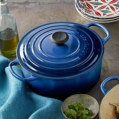 Le Creuset Signature Cast-Iron Round Dutch Oven #williamssonoma {most favorite cooking pot ever. ever ever.}