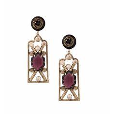 Valliyan Copper Plated Brass Nausheen Earrings