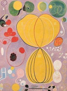 hilma af klint - one of the first pioneer abstract artist (female) from Sweden. now AcneStudios is currently doing a project with her archive onto clothes
