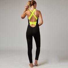 Women's Backless One-piece Yoga Jumpsuit Set