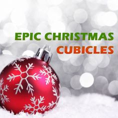 Raise your hands if you like #decorating for the #holidays! Okay, so we can't exactly see the count, but check out these ideas for epic #Christmas #cubicles!