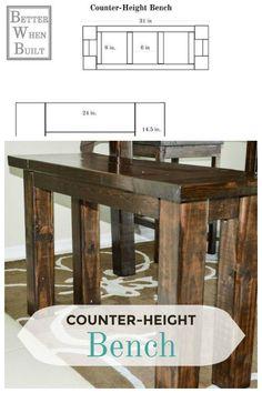 Elegant Counter Height Bench Diy