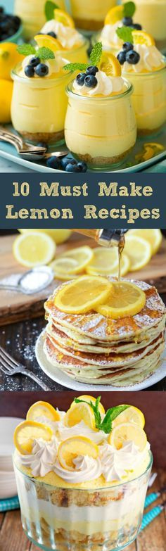 10 Must Make LEMON Recipes!! Light, fresh and healthy!
