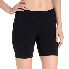 46bb883ea4 Women's Danskin Stretch Bike Shorts, Size: Medium, Black Outfit  Combinations, Nyfw Street