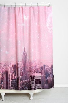 Bianca Green For DENY Stardust Covering New York Shower Curtain #urbanoutfitters