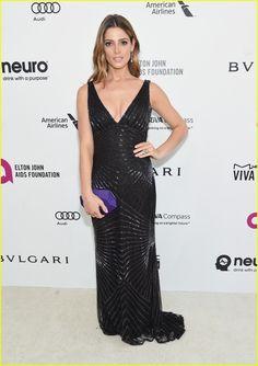 Ashley Greene Wears a Pop of Purple at EJAF AIDs Foundation's Oscar Viewing Party 2016   ashley greene elton john party 08 - Photo