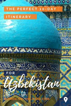 Uzbekistan, Central Asia: follow the Silk Road footsteps of a solo female traveler. A 10-day Uzbekistan itinerary.