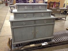 Our New Traditional Chest, 779-202, in Venetian Blue finish.