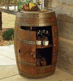 Wine Barrel Cabinet--awesome website too!
