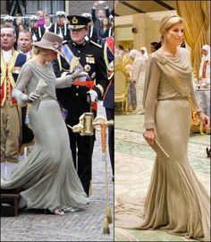 In 2011 koos Máxima opnieuw voor Jan Taminiau, die koos voor een lichtgroene creatie met pailletten. en tijdens staatsbezoek aan Brunei
