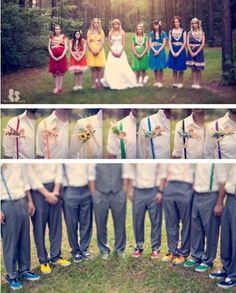 Rainbow wedding - did you catch the guys' shoes?!