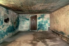 Gas Chamber at Majdanek: The gas chamber at Majdanek, a Nazi concentration camp in Poland, the walls were stained blue by Zyklon B, the poisonous gas used to murder the victims of the Final Solution.