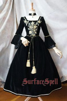 "SurfaceSpell ""House of Bourbon"" Original Baroque Embroidery OP, Multiple Colours. Antique Lolita Dress"