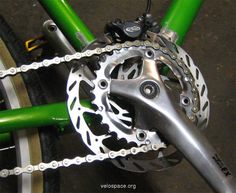 Fixed Gear Bike with Transmission Brake