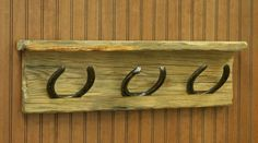 Horse shoe coat rack... Got plenty of horseshoes this should be an easy one